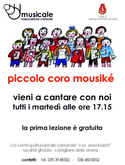 Piccolo coro Mousike – Tutti i Martedi 18.00